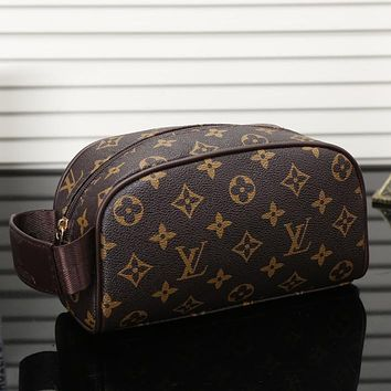 LV Women Fashion Shopping Cosmetic Bag Leather Handbag Satchel