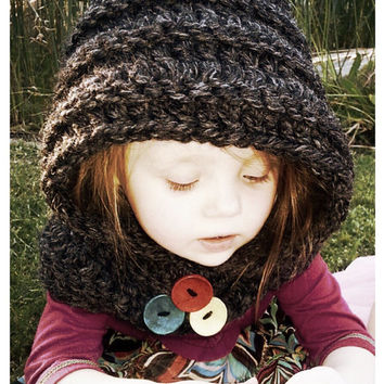 RTS Hooded Cowl (crochet) - 2-4 year - Only One
