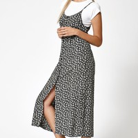 Lisakai Button-Front Floral Slip Dress at PacSun.com