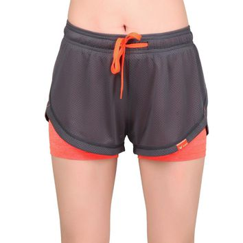 Women's Running Shorts Yoga Shorts Fitness Short Trousers Polyester lady's Jogging Shorts S-2XL Breathable Short Pants