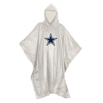 Dallas Cowboys NFL Clear Lightweight Poncho