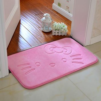 Anti-slip Hello Kitty Baby Room Mat Bathroom Floor Carpet Kitchen Dining Room Rugs Bedroom Doormat