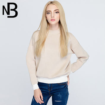 Fall Fashion Knit Winter Casual Long Sleeve Tops Sweater Bottoming Shirt [8906287751]