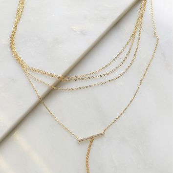 Chained Together Choker Gold