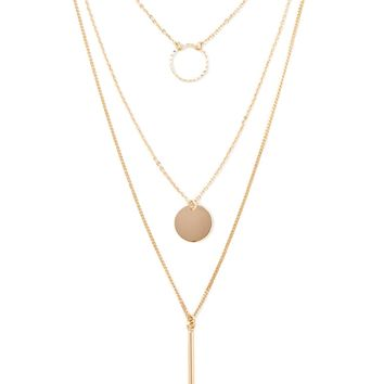 Matchstick Circle Necklace Set