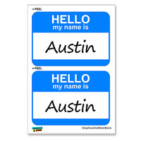 Austin Hello My Name Is - Sheet of 2 Stickers
