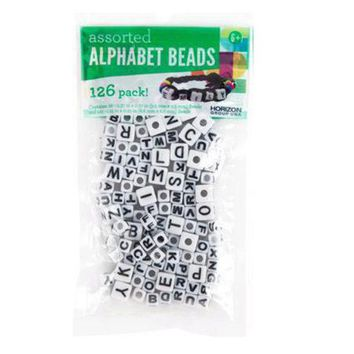 Assorted Alphabet Cube Beads