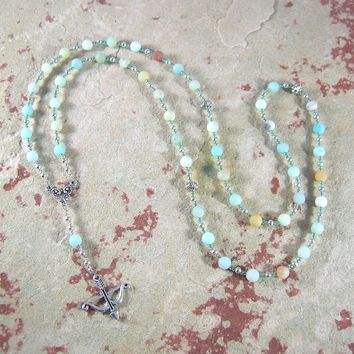 Artemis Prayer Bead Necklace in Amazonite: Greek Goddess of  the Wild, Protector of Young Women