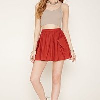 Linen-Blend Mini Skirt | Forever 21 - 2000176860