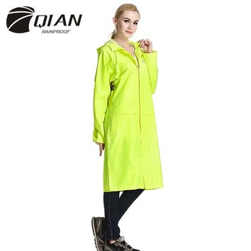 QIAN RAINPROOF Impermeable Adult Long Raincoat