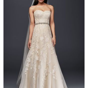Sweetheart A-Line Tulle and Lace Wedding Dress - Davids Bridal