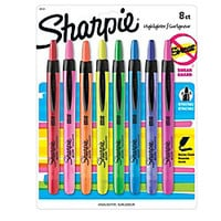 Sharpie Accent Retractable Highlighters Assorted Colors Pack Of 8 by Office Depot
