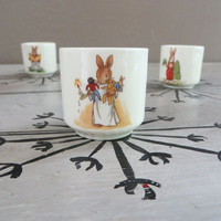 Royal Doulton Bunnykins Bone China Bunnykins Egg Cup Bunny Porcelain Egg Cups Peter Rabbit Rabbit Decor Baby Gift New Baby Gift