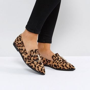 ASOS MELVIN Wide Fit Pointed Flat Shoes at asos.com