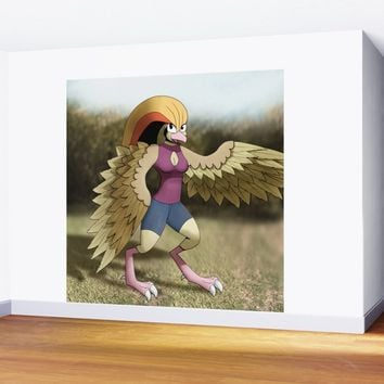 Anthro Pidgeot Wall Mural by ganenethegriffox