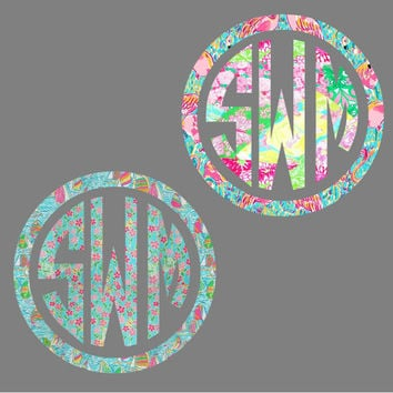 "8"" Monogram Car Decal"