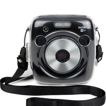 Fujifilm Instax Square SQ10 Camera Crystal Case Transparent Strap Shoulder Bag Protector Instant Film Camera Shell Cover