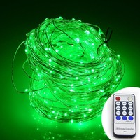 Green Firefly Fairy String LED Plug In Lights with Remote