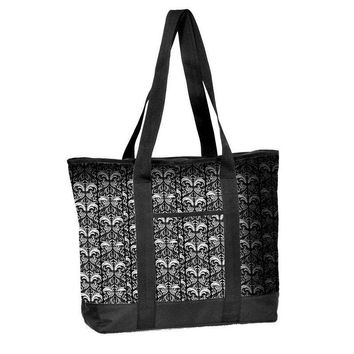 Nurse Tote Bag Filigree Print Zipper Closure Think Medical 94563