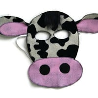 Cow Mask,  Cow Costume, Bull Mask, Dress Up, Farm Animal Birthday Party Favor, Children's Halloween Costume, Adult Mask