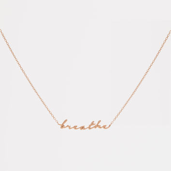 Breathe Necklace - Rose Gold