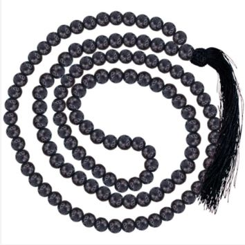 Earth - Lava Stone Japmala Necklace