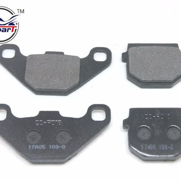 2 Pairs Semi-metallic non-asbestos REAR FRONT BRAKE PADS 50cc - 250cc ATV Quad Go Kart most chinese Dirt Pit Bike