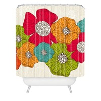 Valentina Ramos Flowers Shower Curtain