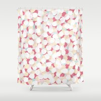 Cotton Candy Drops Shower Curtain by Kat Mun