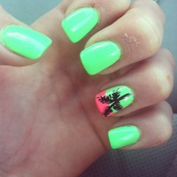 palm tree nails on Tumblr