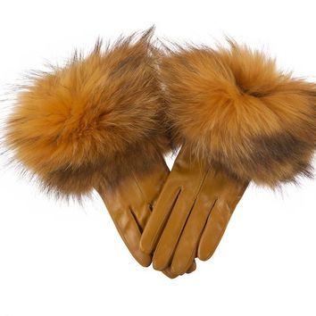 Leather Gloves Mustard