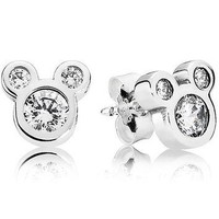Authentic Pandora Jewelry - DISNEY Dazzling Mickey Earring Studs
