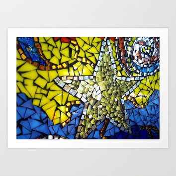 Art Print // Giclee // Photo Print // Border For Framing // Photography // Star // Mosaic Design // Hippie Bohemian // Made to Order - #04