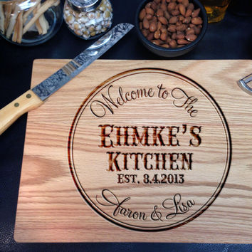 Personalized Round Western Themed Cutting Board