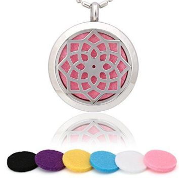 ~Peace Flower Style Essential Oil Diffuser Necklace (10 colors to choose)