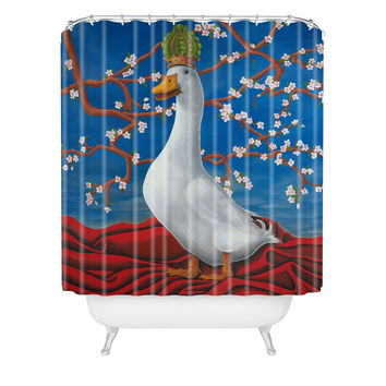 Ryan Rice Fine Art Peking Duck Shower Curtain