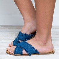 Tell Me Sandals - Denim