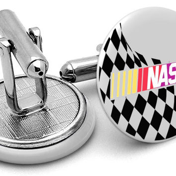 Nascar Checkered Flag Cufflinks