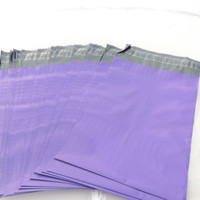 100  Pack Purple 9x12 Poly Mailers, Flat Poly Mailing Shipping Bags, Purple, Pink, Colored Poly Mailer Shipping Envelope Poly Shipping Bag