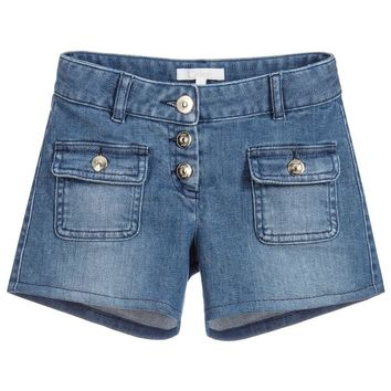 Chloé Girls Blue Denim Shorts (Mini-Me)