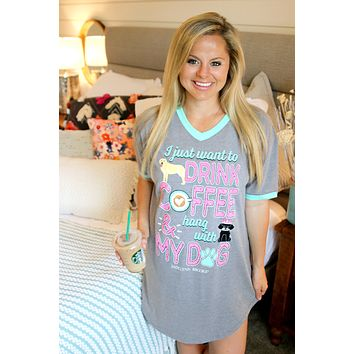 Jadelynn Brooke: Hang with My Dog Sleep Shirt {Grey}