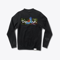 Tropical Crewneck Sweatshirt in Black