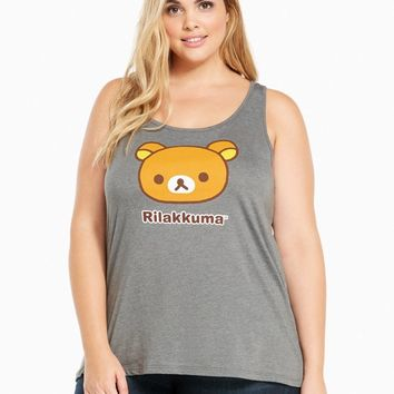 Torrid RILAKKUMA BEAR Plus Size Racerback Tank Top NWT Licensed & Official