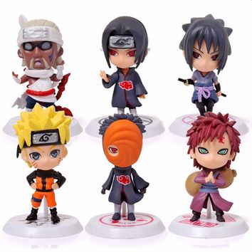 Classic Figurine 6pcs/set Naruto PVC Action Figure Toys Full Set Model Collection