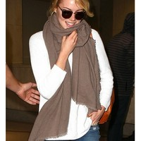 525 America Pullover Sweater in White As Seen On Emma Stone