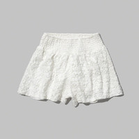 floral lace soft shorts