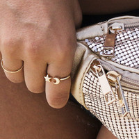 Goodnight Moon Gold Moon And Star Wrap Ring