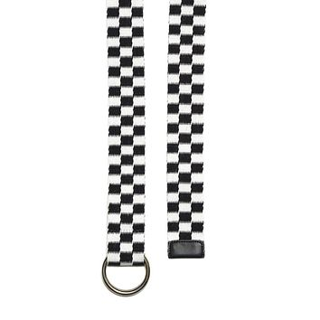 Checked Out Black & White Skater Belt