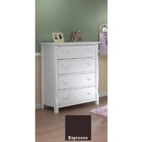 Sorelle Princeton 4-Drawer Chest, Espresso