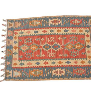 "Turkish Kilim Turkish 3' 8"" X 5' 2"" Handmade Rug"